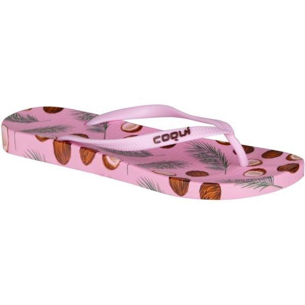 Růžové dámské žabky Coqui