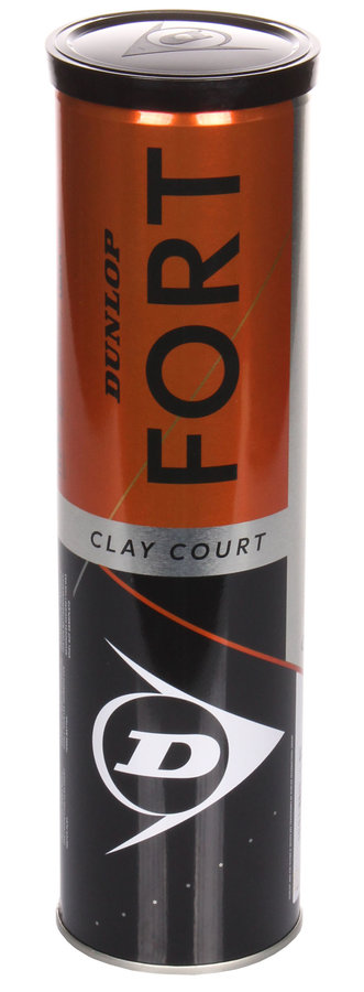 Tenisový míček Fort Clay Court, Dunlop - 4 ks