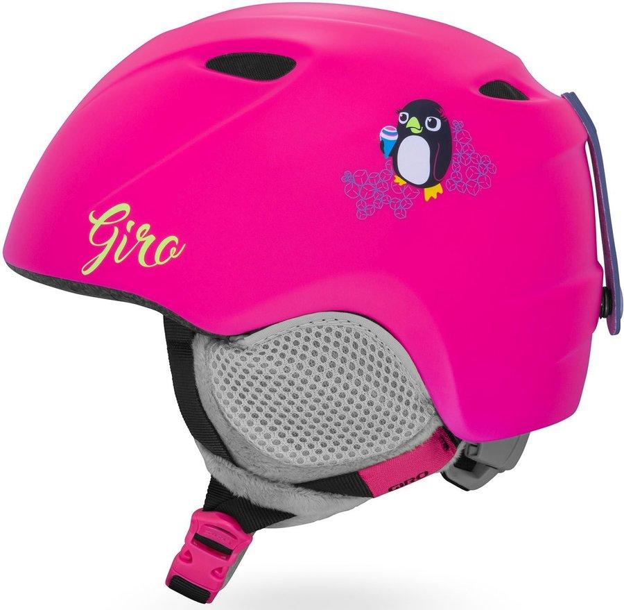 Růžová dívčí lyžařská helma Giro