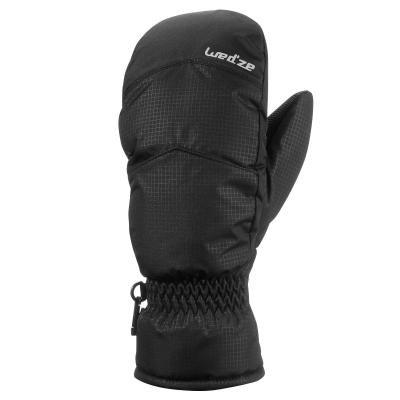 Černé lyžařské rukavice Wed'ze
