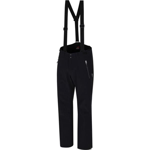 Černé softshellové zimní pánské kalhoty Hannah