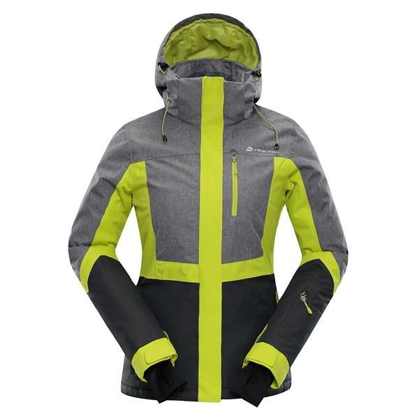 Zelená dámská lyžařská bunda Alpine Pro - velikost S-L