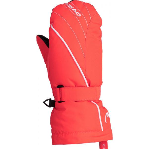 Oranžové dívčí zimní rukavice Head