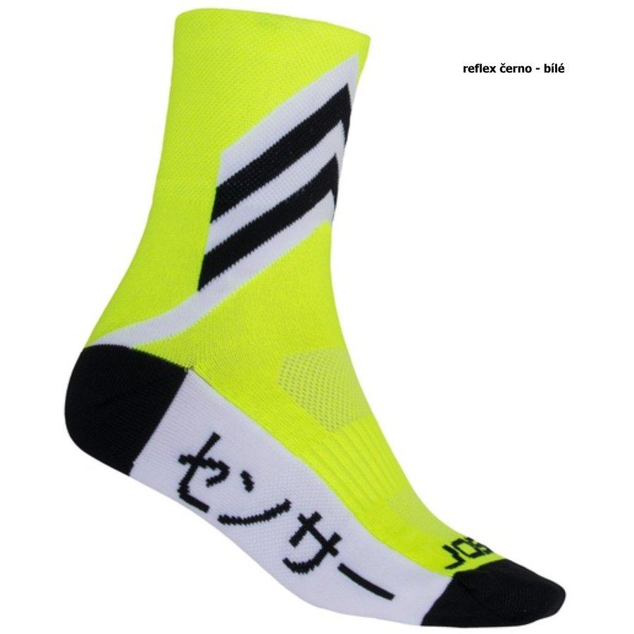 Bílo-černé trekové ponožky Tokyo, Sensor