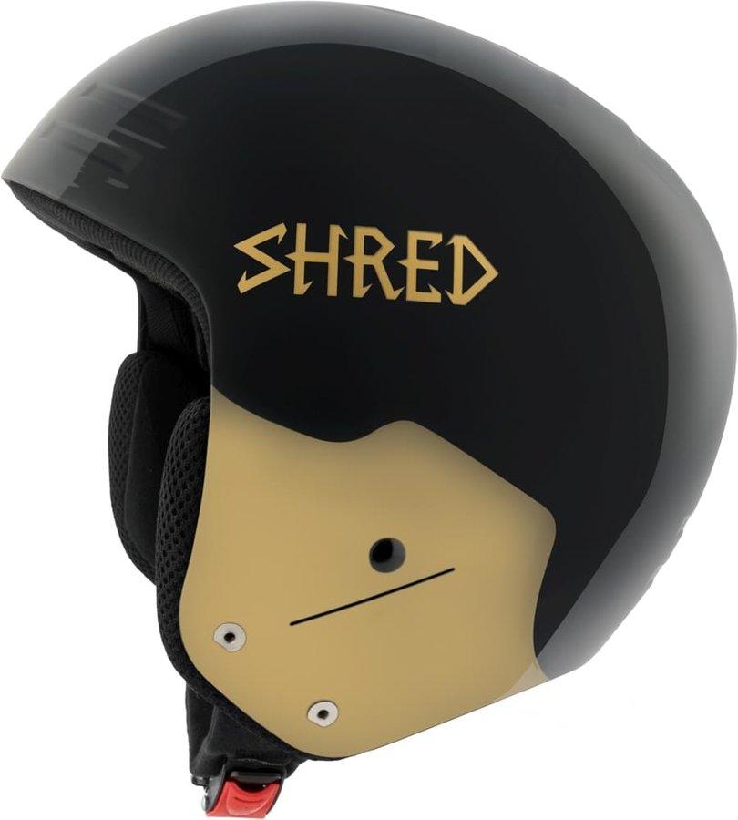 Černo-zlatá pánská helma na snowboard Shred - velikost S-M