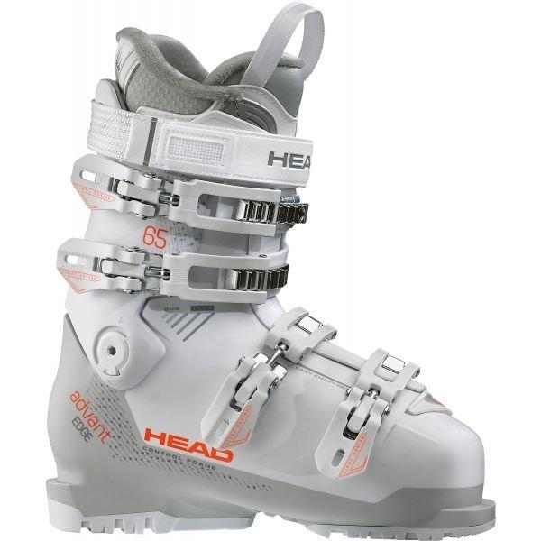 Bílo-šedé dámské lyžařské boty Head - velikost vnitřní stélky 24 cm