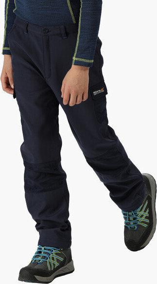 Modré softshellové dětské kalhoty Regatta