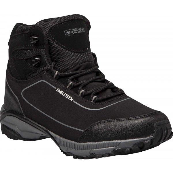 Černé voděodolné pánské trekové boty Crossroad