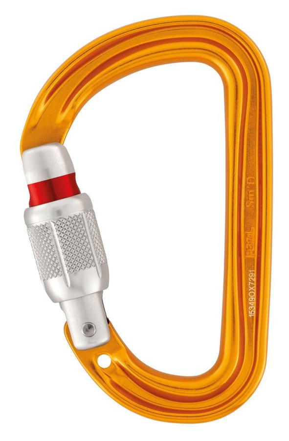 Oranžová horolezecká karabina Petzl