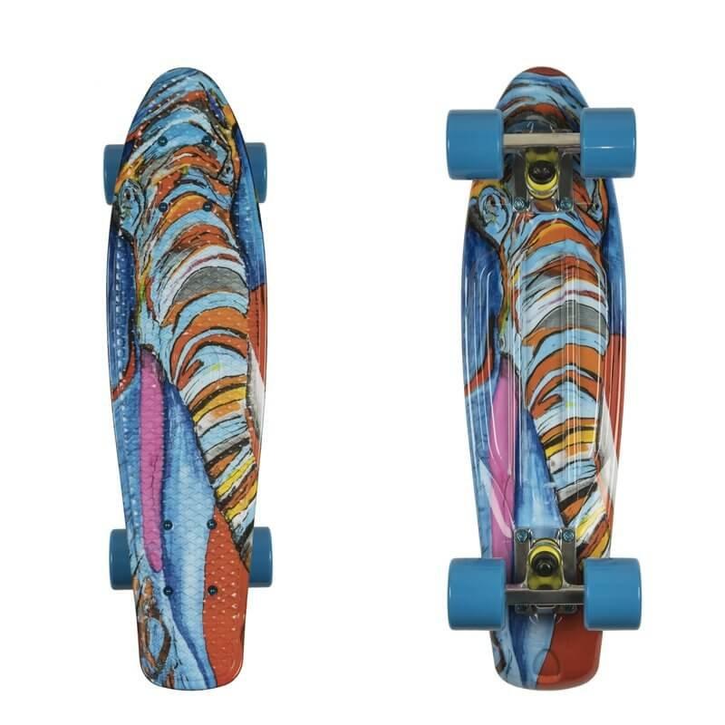 Různobarevný pennyboard Fish