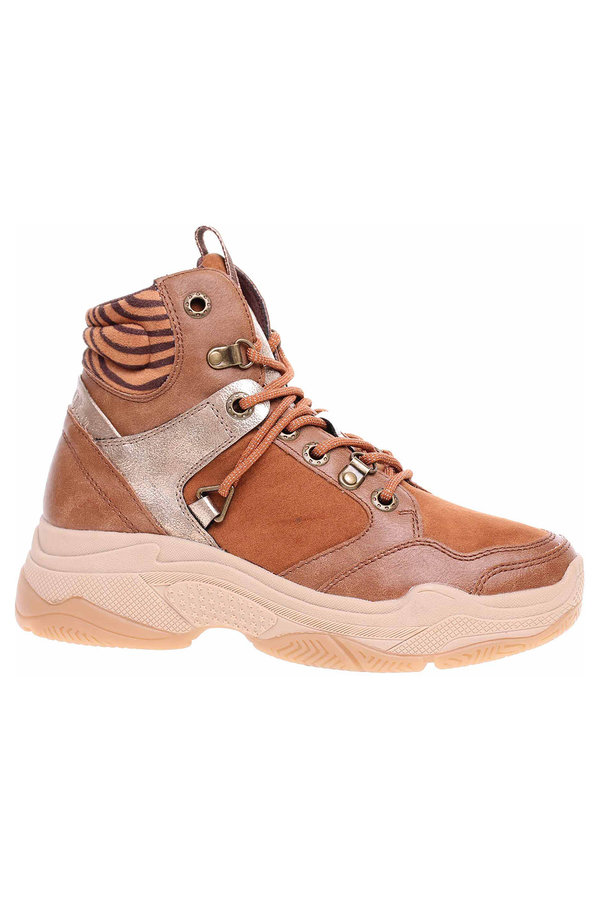 Hnědé dámské kotníkové boty s.Oliver
