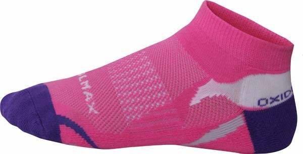 Růžové kotníkové nízké dámské běžecké ponožky Oxide - velikost 35-38 EU