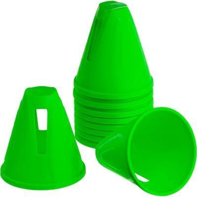 Zelený tréninkový kužel Oxelo - 10 ks