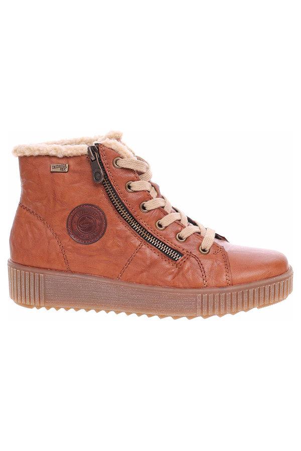 Hnědé dámské kotníkové boty Remonte