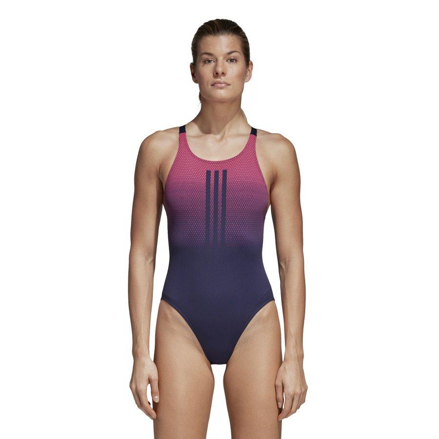 Modro-růžové dámské plavky Adidas - velikost 36