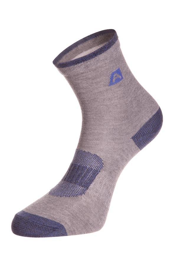 Šedé dětské kotníkové ponožky Alpine Pro