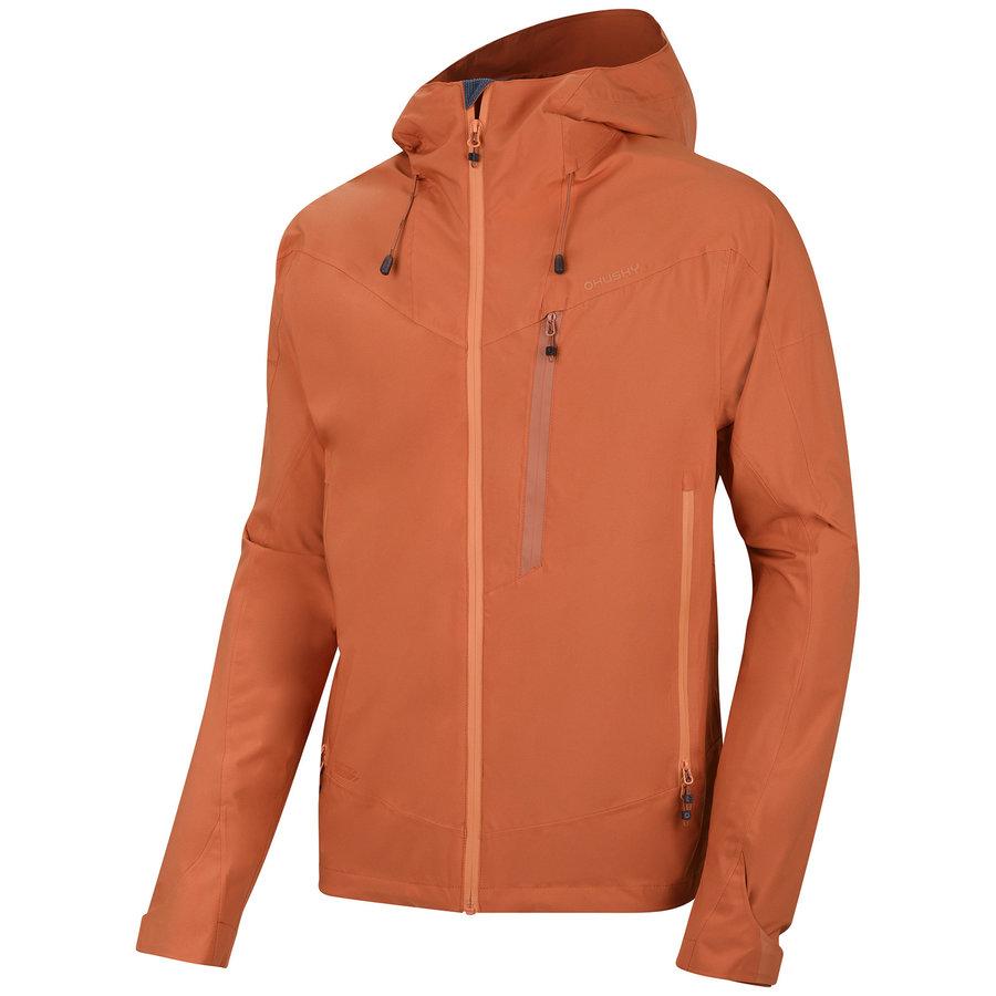 Oranžová hardshellová pánská bunda Husky
