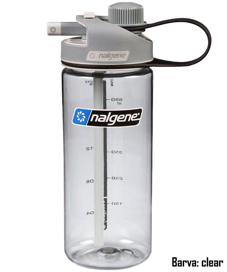 Šedá láhev na pití MultiDrink, Nalgene - objem 0,6 l