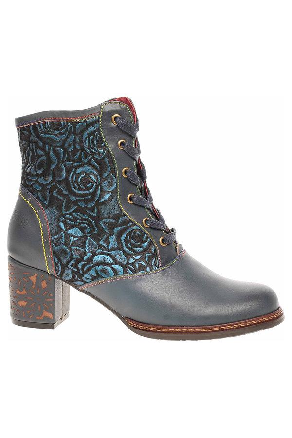 Modré dámské kotníkové boty Laura Vita - velikost 38 EU