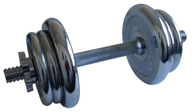 Nakládací činka - ACRA Činka nakládací chromová - 11 kg