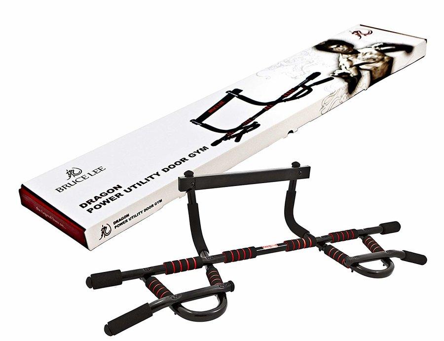 Samovzpěrná dveřní hrazda BRUCE LEE - nosnost 100 kg a nastavitelná délka