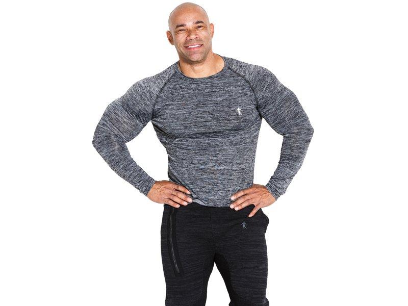 Šedé pánské tričko s dlouhým rukávem Kevin Levrone Signature Series - velikost M