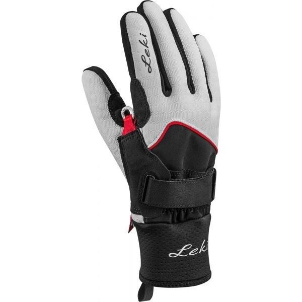 Černé dámské rukavice na běžky Leki