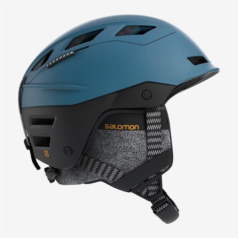 Černo-modrá lyžařská helma Salomon - velikost 59-62 cm
