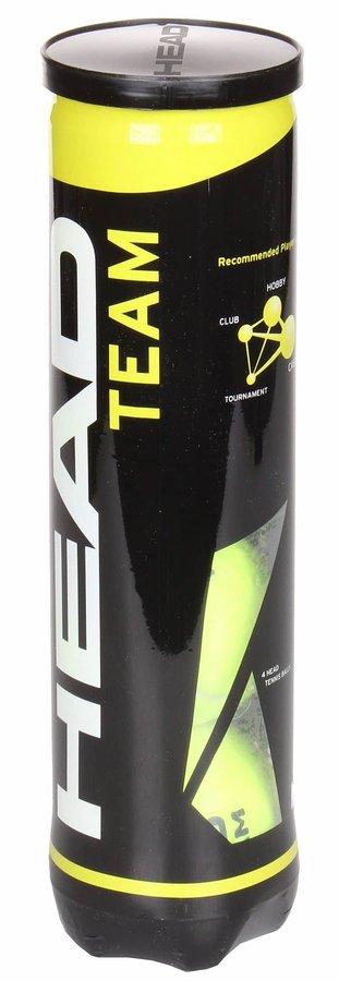 Tenisový míček - TEAM tenisové míče balení: 4 ks