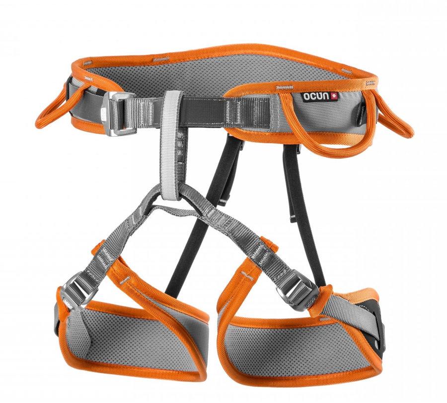 Oranžovo-šedý horolezecký úvazek Ocún