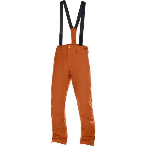 Oranžové pánské lyžařské kalhoty Salomon - velikost M