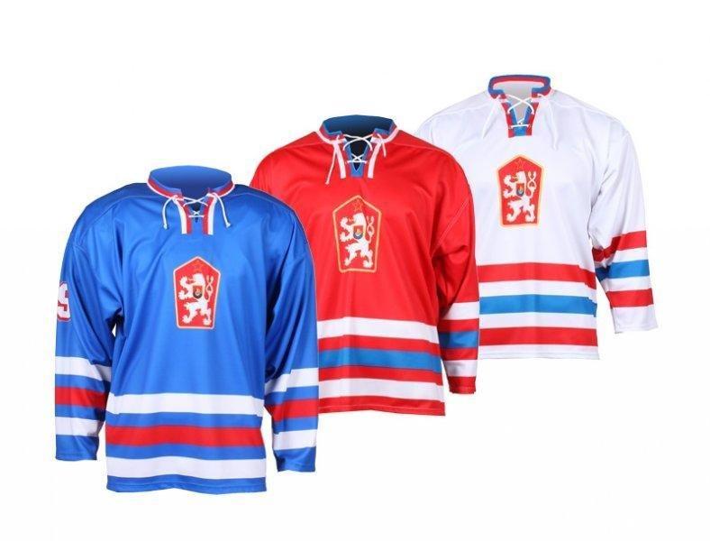 Červený hokejový dres Merco - velikost S