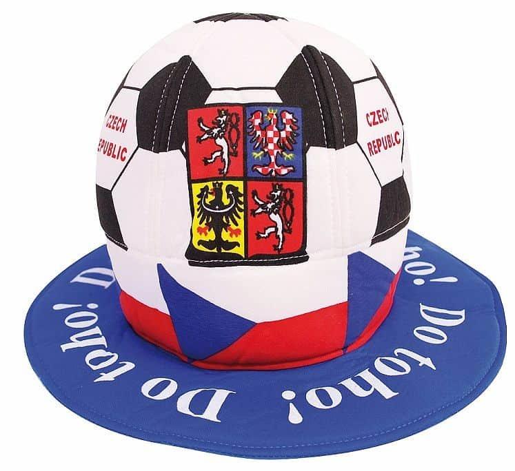 Fotbalový míč - Klobouk fotbalový míč ČR 1