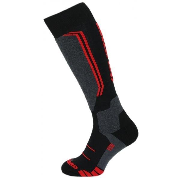 Černo-červené lyžařské ponožky Blizzard