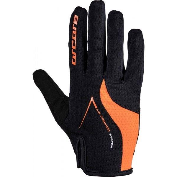 Černo-oranžové cyklistické rukavice Arcore - velikost XL