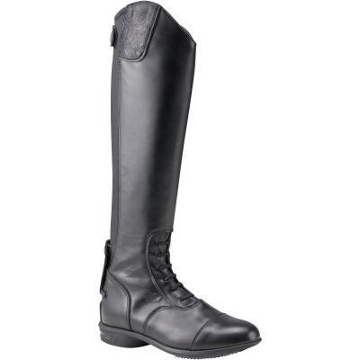Černé kožené jezdecké boty Fouganza
