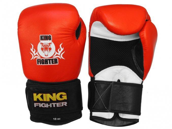 Černo-červené boxerské rukavice King fighter - velikost 10 oz
