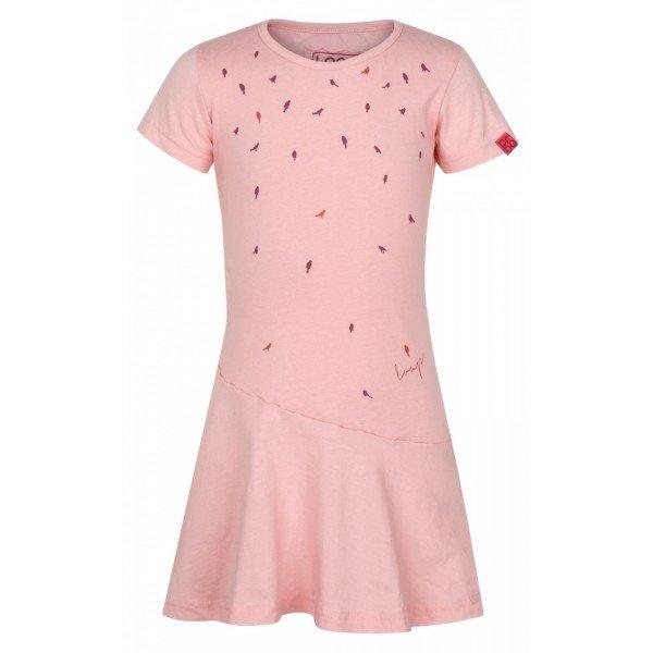Růžové dívčí šaty Loap - velikost 158