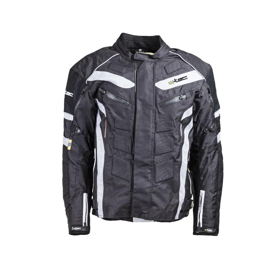Bílo-černá pánská motorkářská bunda Domorado, W-TEC - velikost 3XL
