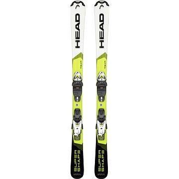Bílo-zelené dětské lyže s vázáním Head - délka 117 cm
