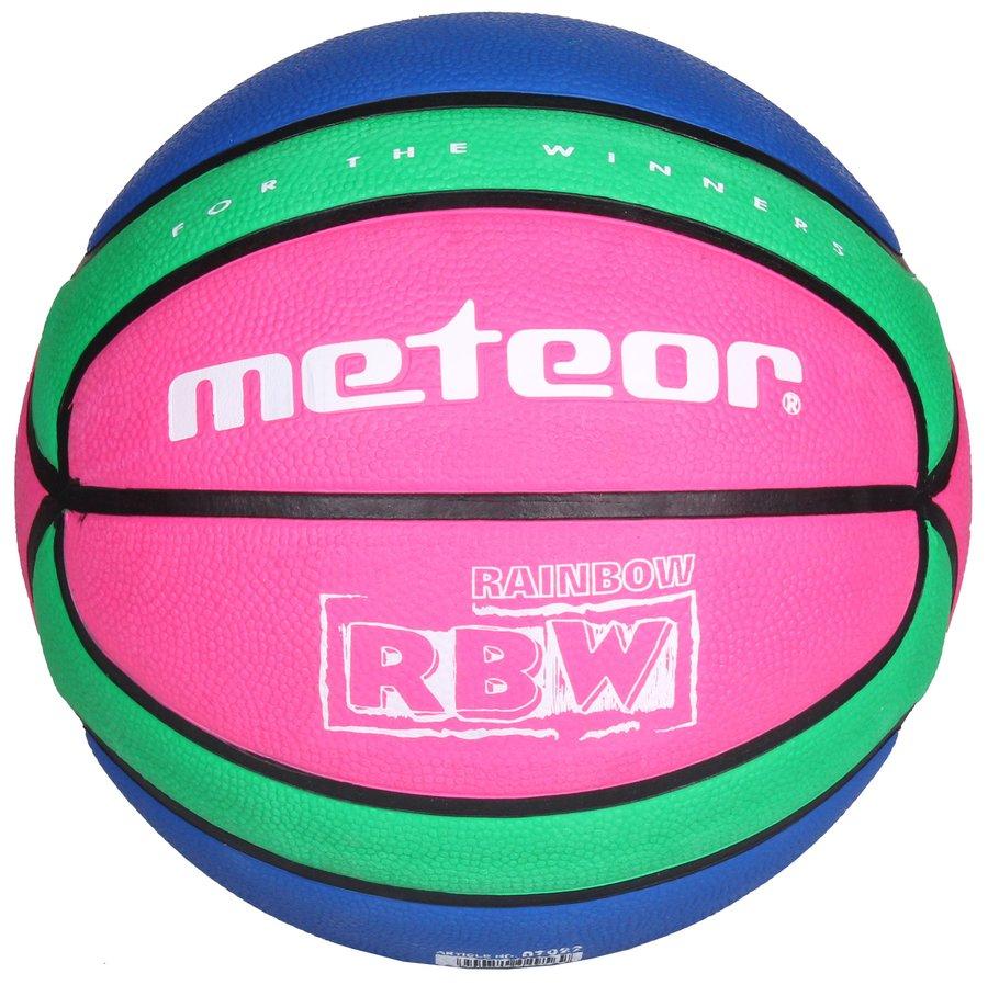 Různobarevný basketbalový míč Training RBW, Meteor - velikost 5