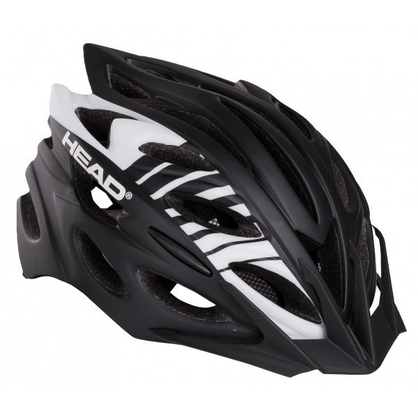 Bílo-černá cyklistická helma Head