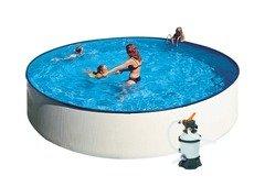 Nadzemní kruhový bazén GRE - průměr 240 cm a výška 90 cm