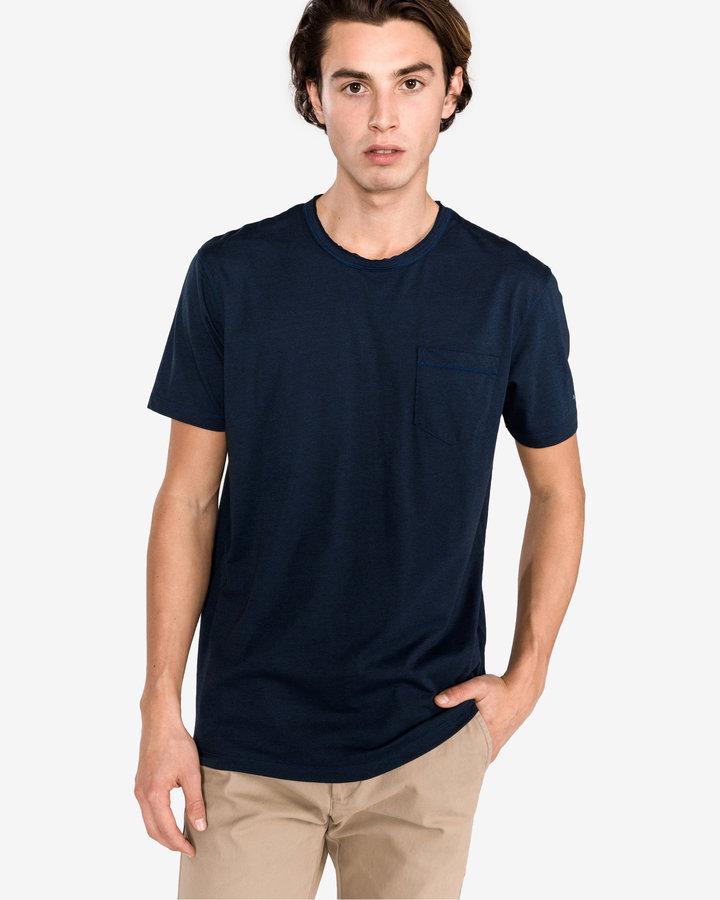 Modré pánské tričko s krátkým rukávem Pepe Jeans