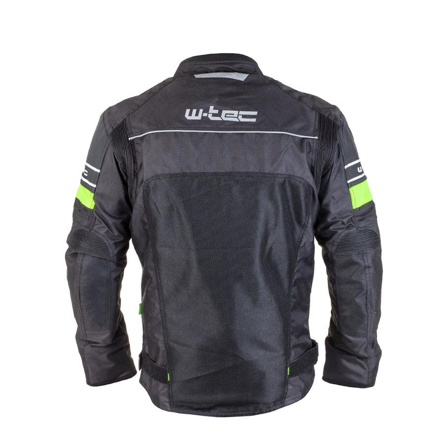 Černo-zelená pánská motorkářská bunda Meltsch NF-2301, W-TEC - velikost 6XL