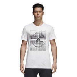Bílé pánské tričko Adidas - velikost S