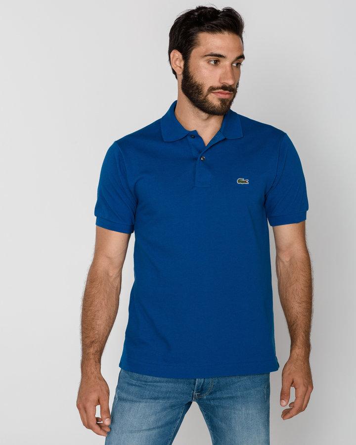 Modrá pánská polokošile s krátkým rukávem Lacoste - velikost S