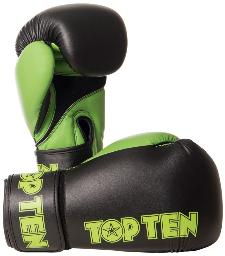 Boxerské rukavice - Boxerské rukavice Top Ten XLP - černá/zelená - černá - velikost 14