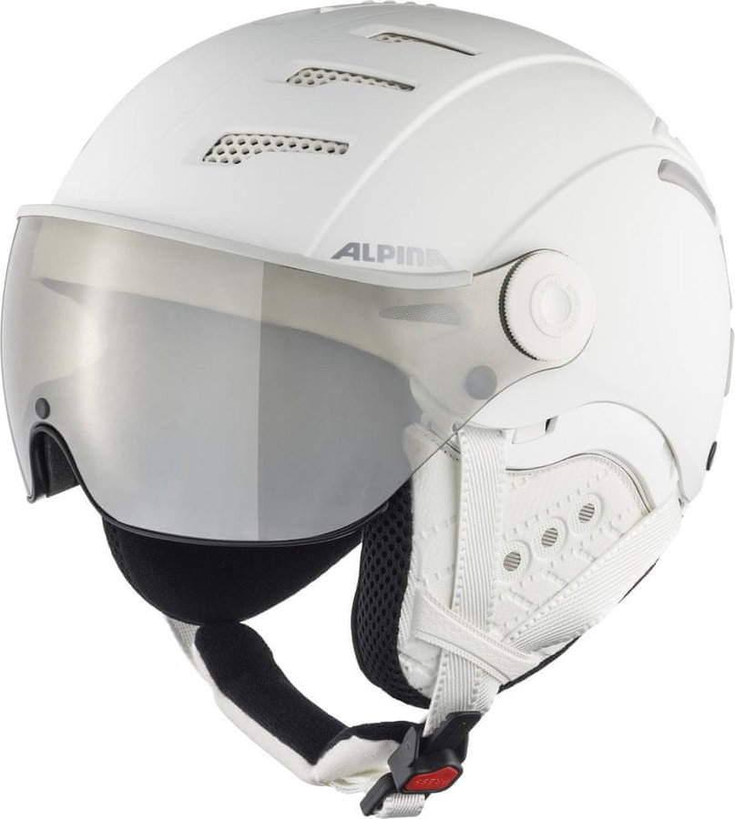 Bílá lyžařská helma Alpina Sports