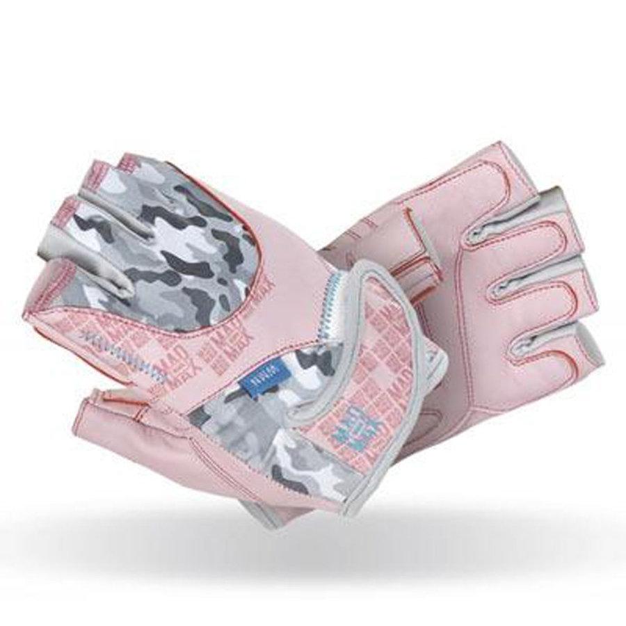 Růžovo-šedé dámské fitness rukavice Mad Max